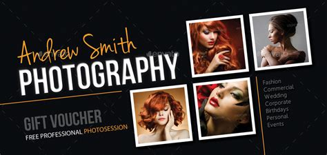 photography studio gift voucher   rapidgraf graphicriver