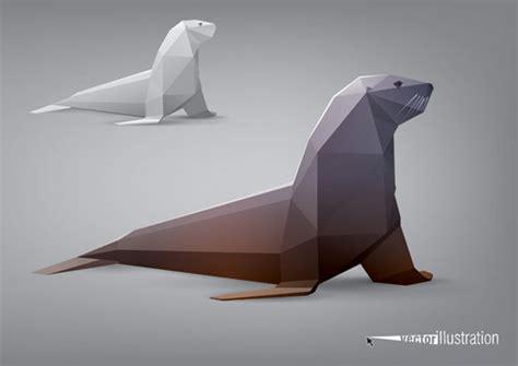 vector animal stylized triangle polygon model ai svg