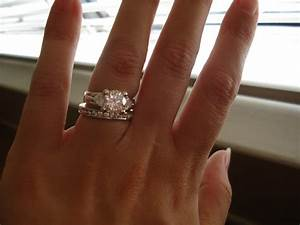 My engagement ring and eternity wedding band for Engagement wedding and eternity ring