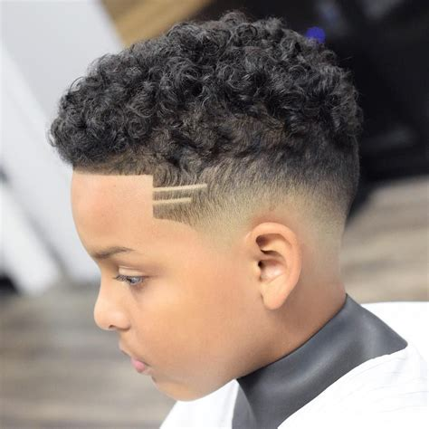 Mixed Hairstyles Boys by Fade Curly Hair In 2019 Boys Curly Haircuts Boys