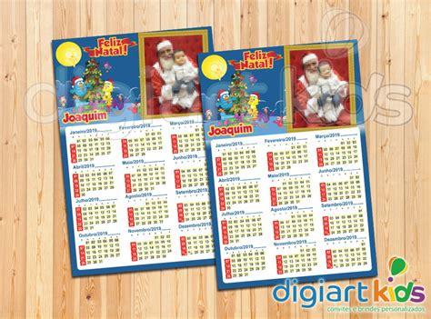 Calendário com Imã Natal Galinha Pintadinha 10x15cm no