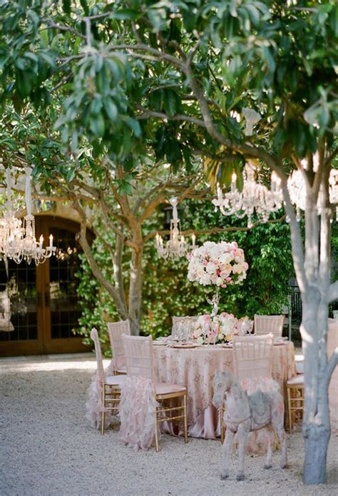 Garden Decoration Wedding by Chandeliers And Outdoor Weddings The Magazine