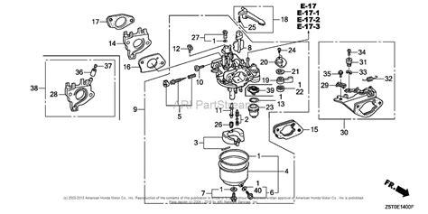 honda engines gx390ut2 qae2 engine tha vin gcbct 1000001 parts diagram for carburetor 1