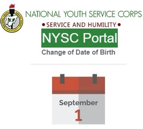 nysc change  date  birth exemption letter