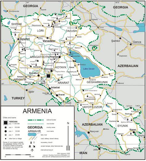 armenia roads map