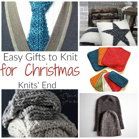 homemade christmas gifts to knit knits end
