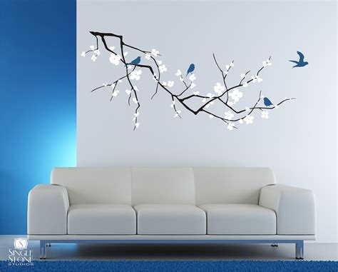 Cherry Blossom Tree Branch Wall Decal With Birds Vinyl Wall. Quality Stickers. Cycle Design Stickers. Blank Stickers To Print On. City Street Logo. Baby Cartoon Banners. Lab Safety Signs. White Ribbon Banners. 1st Month Stickers