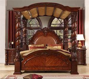 Bisini new product wood bedroom set solid wood luxury for Solid wood king bedroom sets
