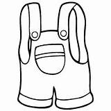 Overalls Coloring Little Printable Pages Template Surfnetkids sketch template