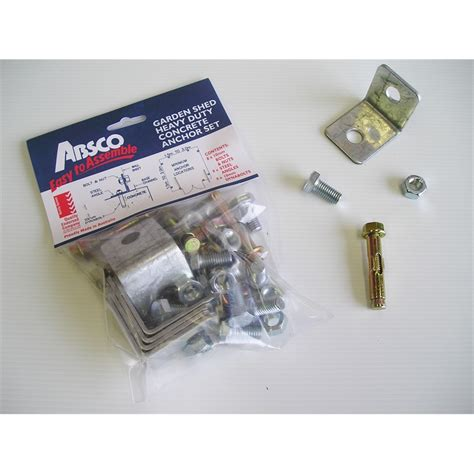 Shed Anchor Kit Bunnings by Absco Sheds Concrete Anchor Set 8 Pack Bunnings Warehouse
