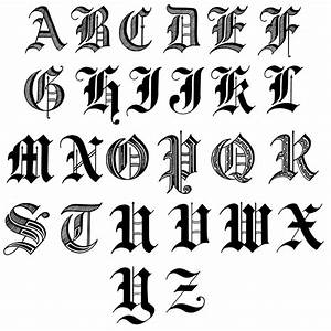 letters in old english english calligraphy and fonts With old english gothic letters
