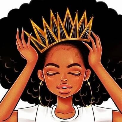 African American Crown Queen Drawings Afro Cartoon