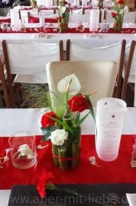 Tischdeko Rot Weiß : 16 besten meine tischdeko bilder auf pinterest tischdeko hochzeit bambus und dahlie ~ Indierocktalk.com Haus und Dekorationen