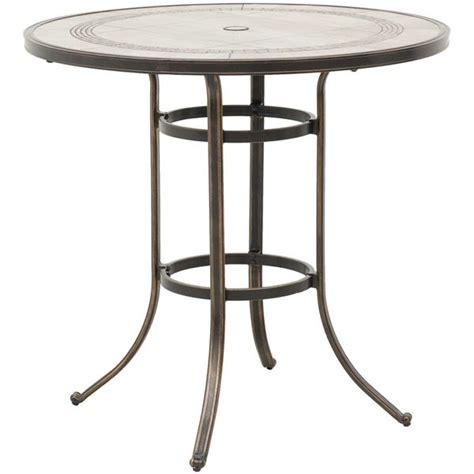 barnwood 42 quot tile top patio bar table t r42b t6