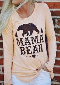 Picture Chart Mama Bear Heart O Neck T Shirt Fairyseason