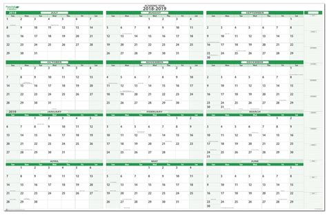 horizontal academic erasable wall calendar
