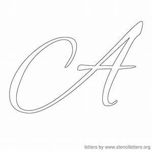 letter stencils   cursive stencil letter a   Stencils ...