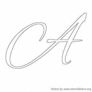 letter stencils cursive stencil letter a stencils With large cursive letter stencils