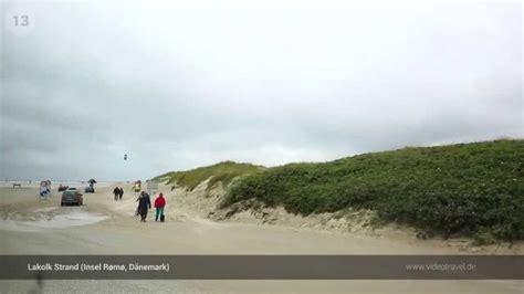 fahren direkt  strand insel romo daenemark youtube