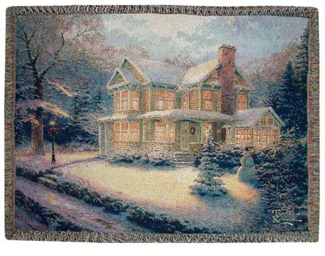 kinkade christmas throw blanket thomas kinkade victorian