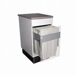 Poubelle Tri Selectif 2 Bacs : poubelle coulissante 2 bacs 70 litres ~ Dailycaller-alerts.com Idées de Décoration