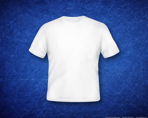 White T Shirt Template Blank White T Shirt Psd Psdgraphics