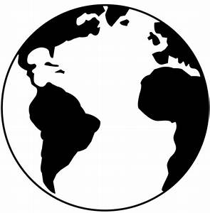 earth black and white cartoon image search results