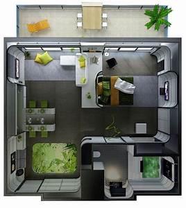 le plan appartement d39un studio 50 idees originales With charming plan maison 3d gratuit 14 maison 2 appartements top maison