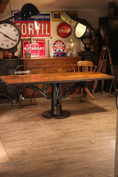 table cuisine industrielle table industrielle pied fonte idees deco
