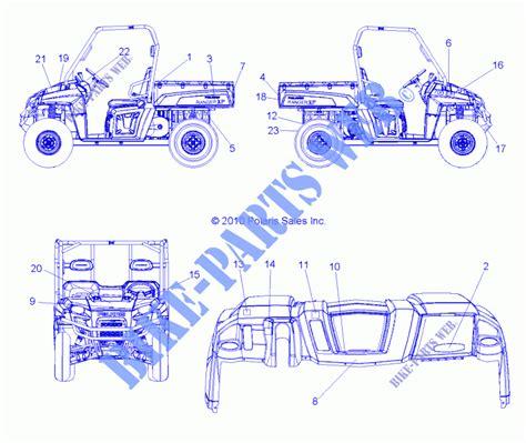 emblemes r11th76 ty76 all options 49rgremblemes118004x4 pour polaris ranger 4x4 800 efi all