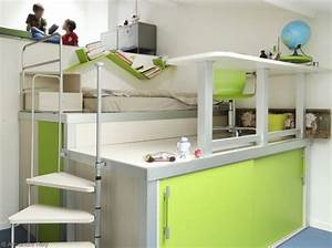 decoration chambre avec lit mezzanine With deco de terrasse exterieur 16 mezzanine chambre bureau design industriel cdesign
