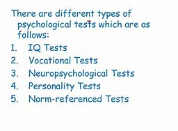 Different types of norms in psychological testing