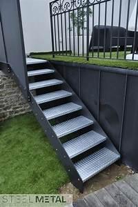 Escalier Exterieur Metal : escalier ext rieur en m tal steelm tal ~ Voncanada.com Idées de Décoration