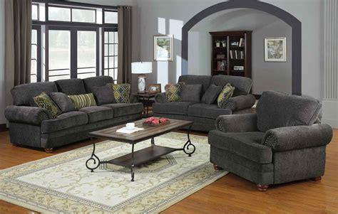 livingroom sets coaster colton living room set smokey grey 504401 livset