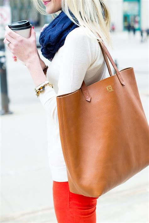 monogram madewell tote perfect gift   holidays