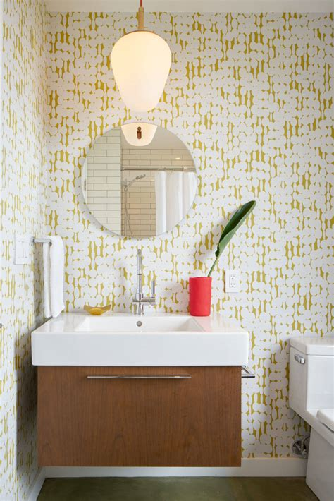 Mid Century Modern Bathroom Colors by 15 Reasons To Bathroom Wallpaper
