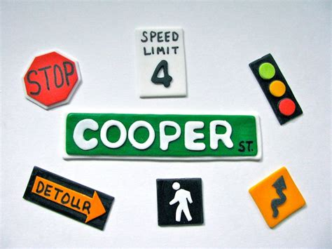 sign road sign traffic sign fondant by yourcupcakestory ideas signs