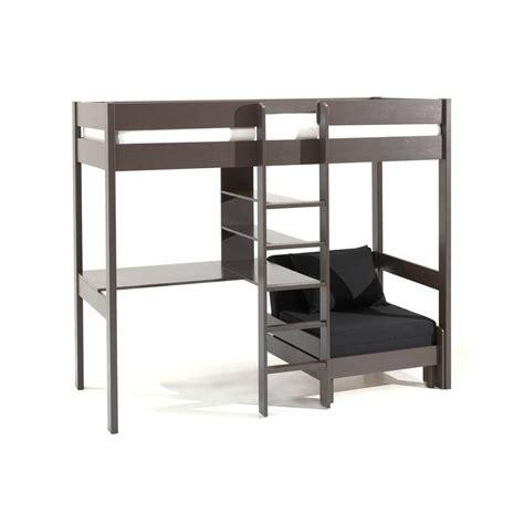 lit mezzanine avec bureau int r lits chambre literie lit mezzanine avec fauteuil