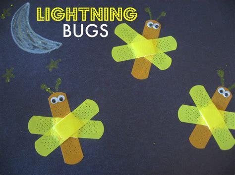 bug crafts preschool bandage lightning bugs no time for flash cards 615