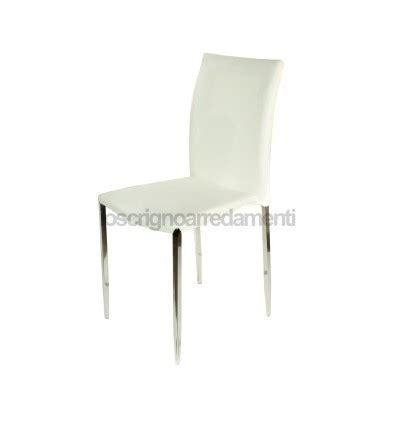 sedie moderne bianche set 4 sedie moderne ecopelle bianche sedia cucina