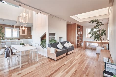 Home Designing A White And Wood House For A Stylish