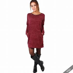 Womens Loose Long Casual Jumper Sweater Shift Tunic Dress Pullover Top Winter