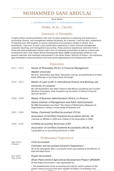 chief accountant resume sles visualcv resume sles