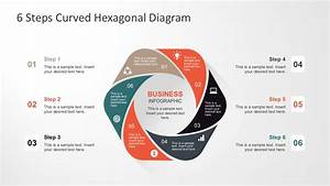 6 Steps Curved Hexagonal Diagram