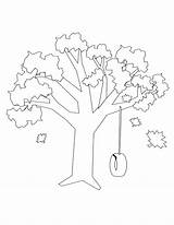Swing Tree Drawing Coloring Pages Template Sketch Getdrawings sketch template