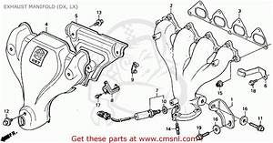 Honda Accord 1992 2dr Lx  Ka Kl  Exhaust Manifold  Dx  Lx