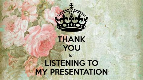 Thank You For Listening To My Presentation Poster