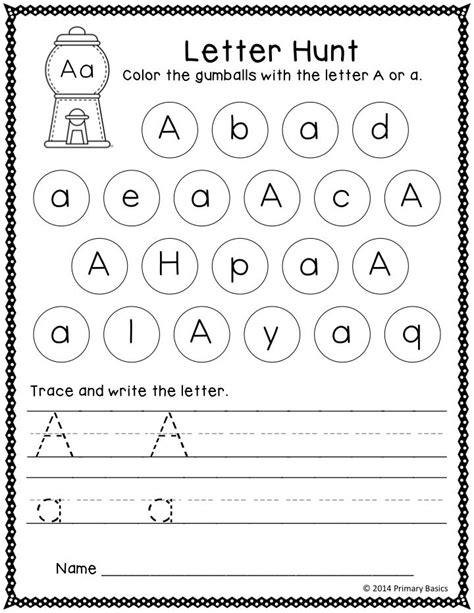 letter   day grade  preschool writing alphabet