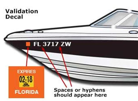 Boat Registration Numbers Mn by Displaying The Registration Number And Validation Decal