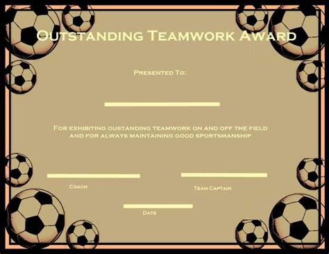 printable soccer certificate templates template